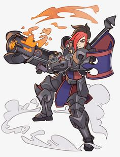 Ash from Paladins by SplashBrush