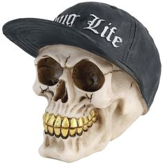 New Thug Life Skull Head Gothic Figure Ornament Art Gifts Figurine Decor #AstraBlueGiftware #skullhead