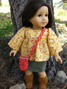 "Free blouse/dress pattern for 18"" dolls"