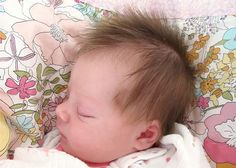 would you look at this baby's hair?!