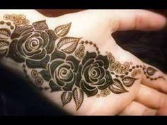 Rose Mehndi Designs, Mehandi Designs Easy, Henna Art Designs, Mehndi Designs For Hands, Tattoo Designs, Mehndi Tattoo, Mehndi Art, Stylish Mehndi, Mehndi Patterns