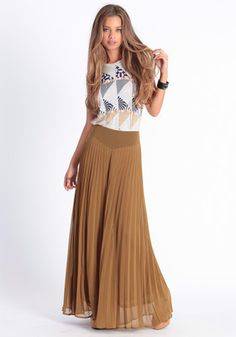 High Column Pleated Pants in Olive - $49.00: ThreadSence, Women's Indie & Bohemian Clothing, Dresses, & Accessories