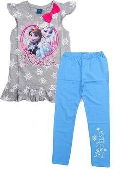 Labai graži tunika ir timpos Frozen Komplektukas Anna ir Elsa