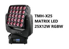 TESTA MOBILE LED TMH-X25 WASH A MATRICE 5X5 CON 25X12W COB RGBW - #4372707 - su Mercatino Musicale in Teste Mobili