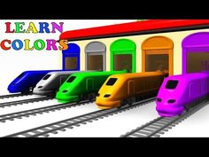 Colors for Children to Learn with Toy Trains - Baby Kids Colors Videos Collection - YouTube
