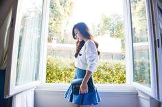 Neon Blush, Luisaviaroma, Style Lab, MSGM I 'Heart' U sweater, Balmain denim skirt, ps11