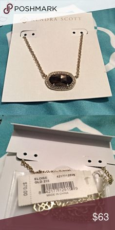 NWT Kendra Scott Eloise Necklace in Pyrite NWT Kendra Scott Eloise necklace in Pyrite.  Has gold chain.  Comes with dust bag and original packaging. Kendra Scott Jewelry Necklaces