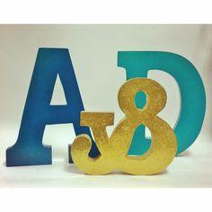 Letras en madera decorativas