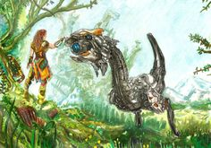 Horizon Zero Dawn- Earth is ours by barracudaegg