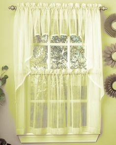 Find cheap low prices on Harmony sheer yellow kitchen curtains. Today, get an extra 10% off our already discounted prices. Free shipping offer available
