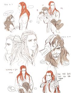 Gender Swap tauriel X kili http://hotja.tumblr.com/::::I actually quite perfer this that the female one.