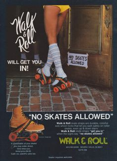 70s Rainbow Walk & Roll Straps Invention - allows you to go in with skates on