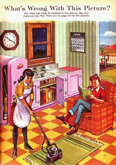 'What's wrong with this picture ' is part of Picture puzzles - From The Reader's Digest Young People's Annual 1963 Designer unknown What's wrong with this picture indeed Funny Riddles, Jokes And Riddles, Funny Memes, Hilarious, Funny Quotes, Hidden Pictures, Best Funny Pictures, Emoji Pictures, Funny Pics