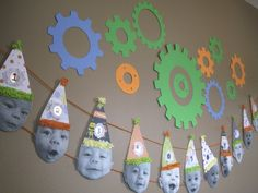Art Cute party decoration idea--have photos of the birthday boy/girl either each month for first year or each year for the b-day. ideas-for-entertaining