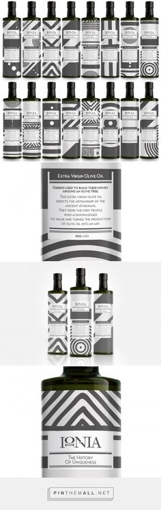 Ancient Greeks used to paint & design each Olive Oil amphora (container) separately, Antonia Skaraki decided to do so today! -  http://www.packagingoftheworld.com/2016/12/ionia-limited-edition.html