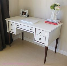 Fab desk redo - painted and stained