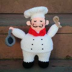 I've got to do this for my kitchen shelf!  Download this free pattern at Amigurumipatterns.net