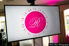 Hot Pink & Bling Theme Bat Mitzvah Logo {Party Planner: The Event of a Lifetime, Peter Oberc Photography} - mazelmoments.com