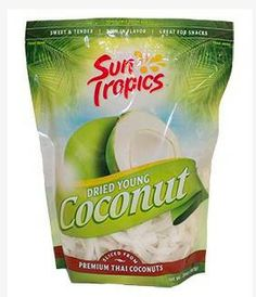 SunTropic Dried Young Coconut snack, it's delicious and rich in fiber.
