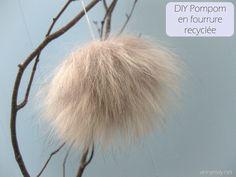 Faire un pompom en fourrure recyclée – Bonjour Handmade par AnnyMay