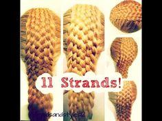 HOW TO DO AN 11 STRAND DUTCH BRAID HAIR TUTORIAL