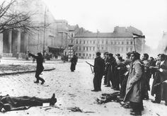 Hungarian freedom fighters on Budapest street near bodies of peolpe they shot during brief partisan struggle for independence from Soviet-backed communist regime. Get premium, high resolution news photos at Getty Images Budapest Guide, Freedom Fighters, Historical Images, Budapest Hungary, Soviet Union, The Real World, Cold War, Eastern Europe, World War Ii