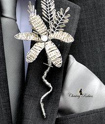 Beaded Grooms buttonhole