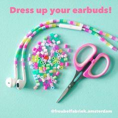 Beaded earbuds! Nice activity to do with teenagers! They love it! #iphone #earbuds #headphone #pipoosdiy #pärlor #bügelperlen #panduro #perlerbeads #perler #nanobeads #nabbibeads #fusebeads #feelingcrafty #makersgonnamake #madeitmyself #craft #crafty #diy #perlerart via Earbuds on Instagram - Best Sound Quality Audiophile Headphones and High-Fidelity Premium Earbuds for Hi-Fi Music Lovers by AudiophileCans