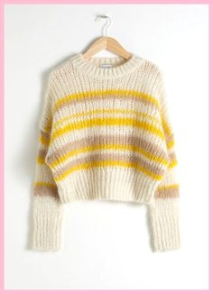Wool Blend Chunky Knit Sweater - Beige - Sweaters - & Other Stories Wool blend sweater with round neckline, voluminous sleeves and a chunky knit stitch. Length of sweater: / Beige Pullover, Beige Sweater, Crewneck Sweater, Knitted Bags, S Models, Sweater Weather, Look Fashion, Wool Blend, Knitwear