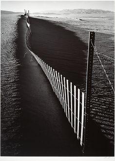 Sand Fence, Keeler, California  Ansel Easton Adams  (American, San Francisco, California 1902–1984 Carmel, California)  ca. 1948, printed 1974 Gelatin silver print