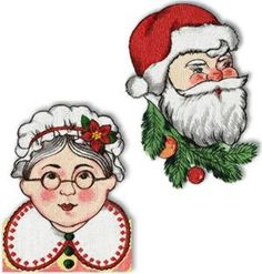 Advanced Embroidery Designs - Mr. and Mrs. Santa Claus