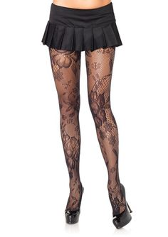 Floral bloom lace pantyhose. So cute!