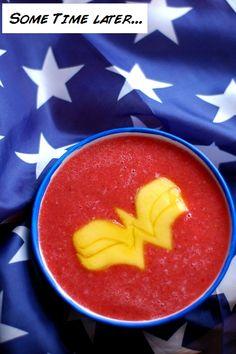 Wonder Woman watermelon soup