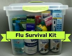 DIY: Flu Season Survival Kit | Frugal Upstate. it wouldn't hurt to add these to a Bug Out bag or even to your stay in emergency supplies.  Hard times also bring sickness, so be prepared for those that you can handle, like colds and flu, headache and injury pain or fever reduction. Wouldn't hurt to put a large bottle of multi-vitamins in any emerg kit too.