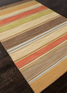 The simple, striped style of the Jaipur Pura Vida La Palma Flat Weave Stripe Pattern Wool Handmade Rug goes a long way. This beautiful rug is an. Carpets Online, Dhurrie Rugs, Jaipur Rugs, Clearance Rugs, Indian Rugs, Best Carpet, Rugs On Carpet, Wool Carpet, Woven Rug