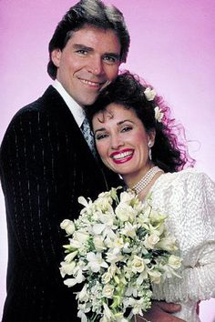 """Erica Kane is a fictional character played by Susan Lucci on the soap opera """"All My Children."""" This soap opera has been on the air since 1970 and Erica is the only original cast member that has stood the test of time. Erica started her role as a. Susan Lucci, Long Sleeve White Gown, Soap Opera Stars, Soap Stars, Best Soap, Bold And The Beautiful, Old Tv, Actors & Actresses, Photo Galleries"""