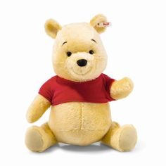 In celebration of the upcoming anniversary of Disney& Winnie the Pooh and the Blustery Day, Steiff has created this limited edition Winnie the Pooh plush. Disney Frozen, Disney Pixar, Walt Disney, Peluche Winnie The Pooh, Disney Winnie The Pooh, Welsh Terrier, Tweety, Steiff Teddy Bear, Teddy Bears