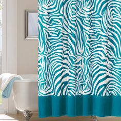 Home Essence Microfiber Shower Curtain in Teal - BASI70-0061