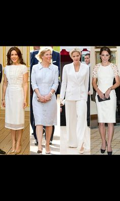 Ladies in white,different styles but they all look beautiful.