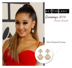 Get the Look: Grammys 2016 Ariana Grande by rajjewels-content on Polyvore #floral #certified #diamond #drop #earrings