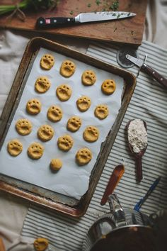 What cute paw prints! Adventures in Cooking: Pumpkin Bacon & Flax Dog Biscuits  #dogs #dogtreats #diy #homemade #lovemydog