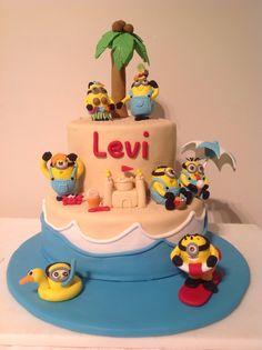 Beach Themed Minion Cake