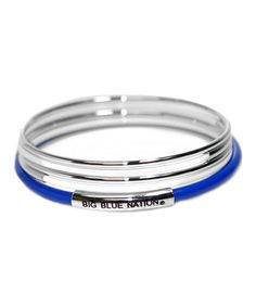 Look what I found on #zulily! Kentucky Wildcats 'Big Blue Nation' Bangle Set…