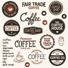 Кофейные ярлыки для декупажа