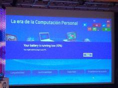 En la presentación de Windows8