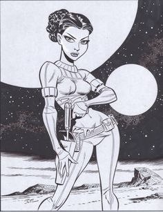 Bruce Timm - Padme, in StevenEdwards's Random Original Art Comic Art Gallery Room - 369772