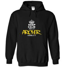 (Tshirt Top Tshirt Charts) Keep Calm and Let ARCHER Handle It Discount 15% Hoodies Tees Shirts
