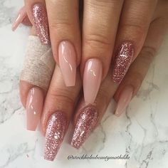 Frosted pink and glitter