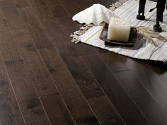 Charcoal white oak flooring