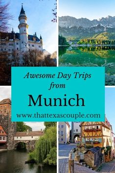 11 Great Day Trips from Munich - - If you're headed to Munich then you have to check out this list of Munich day trips. We have everything from beautiful lakes to fairy-tale castles. Europe Travel Tips, Travel Advice, Travel Guides, Travel Destinations, Travel Stuff, Holiday Destinations, European Destination, European Travel, European Tour
